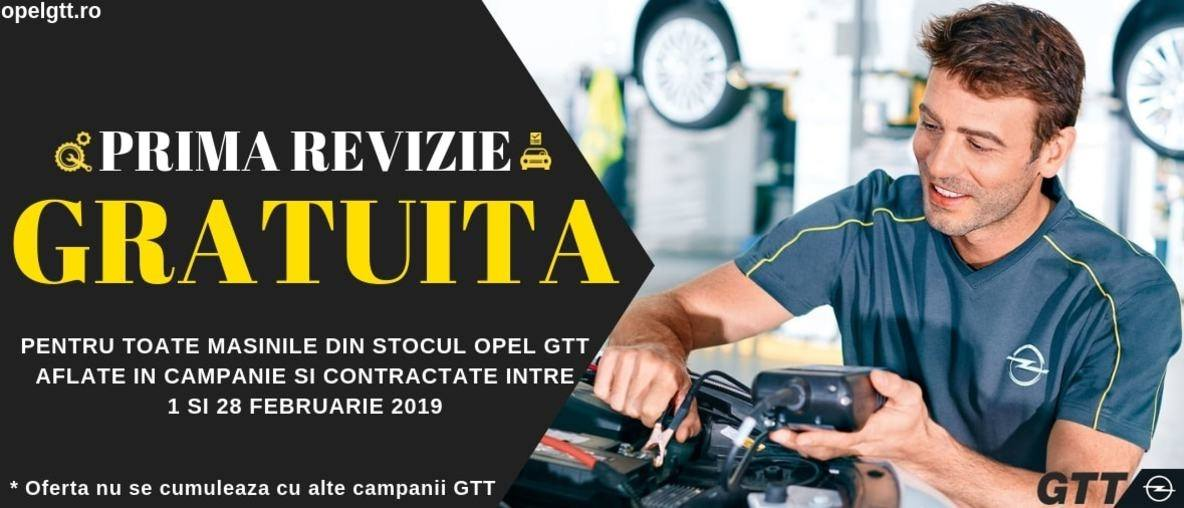 Prima revizie gratuita la Opel GTT