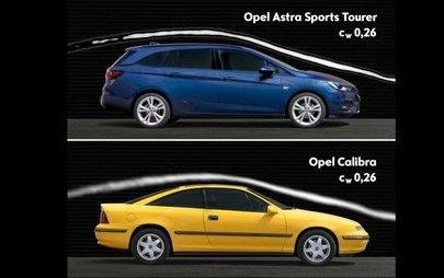 Regii aerodinamicii: noul Opel Astra împarte coroana cu modelul Calibra